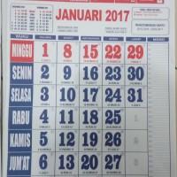 Kalender/Calendar Gantung Dinding Tembok Wall 12 lembar 58gsm 2016