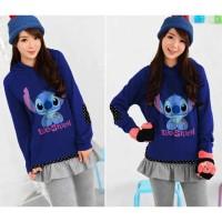 harga XL Jumper Mi Lilo Stitch Navy Dongker sweater hoodie BIG SIZE JUMBO Tokopedia.com