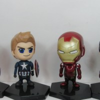 CAPTAIN AMERICA IRON MAN CHIBI SET 4 FIGURE MAINAN