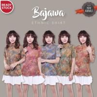 BAJAWA ETHNIC SHIRT blouse batik songket baju kerja wanita murah