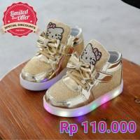 HK BLINK GOLD BOOTS LED Shoes. sepatu lampu anak import pesta frozen harga  ... f29293eddc