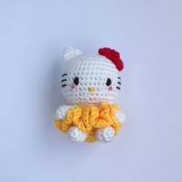 Gantungan Tas Boneka Rajut (Amigurumi) Hello Kitty (Yellow)