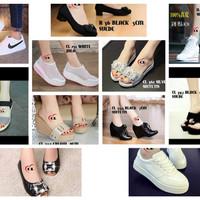 sepatu heels , wedges , sport , kets , sendal SALE 150rb dapet 3 pasan