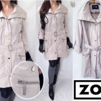 harga Long Coat Branded Murah LBBL1634 ZOY Khaki Trench Coat Tokopedia.com
