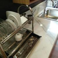 rak piring/gelas duduk stanles/kitchen wares/dish rack