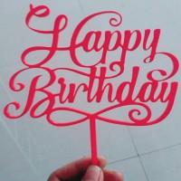 Jual Cake Topper - Tulisan Happy Birthday - T01 Murah