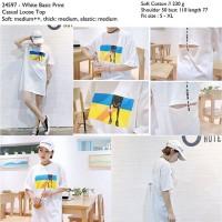 Kaos Dress Mini Tumblr Putih IMport Murah