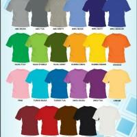 Jual Kaos Polos Anak 20s Cotton Combed Size No. 2 Murah