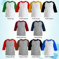 Jual Kaos Polos Anak Raglan 20s Cotton Combed Size No. 3 Murah