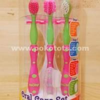 Sikat Gigi Anak Nuby Oral Care Set 4 Stage Toothbrush
