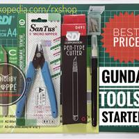 Jual Toolkit Starter set gundam tang pinset marker pen cutter cutting mat Murah