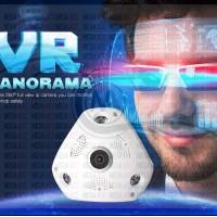 Popular 3D VR Cam WIFI IP Camera Fisheye Lens SD Card Slot HD Panorama