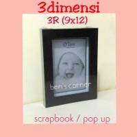 harga frame foto/bingkai foto /scrapbook / 3dimensi uk.3r (9x12) Tokopedia.com