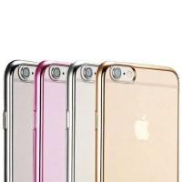 CHROME CLEAR SOFT Casing iPhone 5 5s SE 6 6s 6Plus 7 7 Plus Case