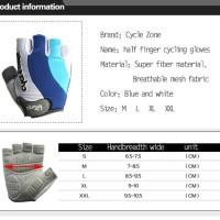 Jual Sarung Tangan Sepeda Outdoor CYCLE ZONE Half Finger Murah
