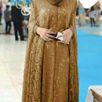 Harga baju hijabers murah dress brokat renita   Pembandingharga.com