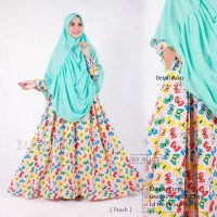 butterfly set syar'i gamis crepe