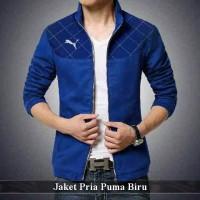 supplier jaket cowok | jas pria tebal | Puma Biru