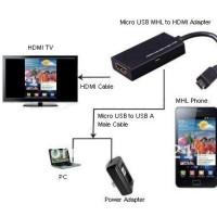 Micro USB To HDMI Adapter / Smartphone Ke TV HDMI Up To 1280x720 MHL