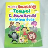 Buku Aktifitas Aku Bisa Gunting Tempel & Mewarnai Binatang Buas (besar