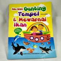 Buku Aktifitas Aku Bisa Gunting Tempel & Mewarnai Ikan (besar)