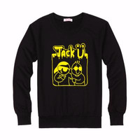 SWEATER JACK U 18 - HITAM - DEALLDO MERCH