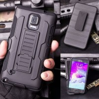 Case Armor Samsung Galaxy Note 4 Military Hybrid Belt Stand 3 in 1