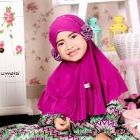 Alikha Bergo Kids Magenta By Uwais Hijab / Jilbab Anak