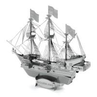 Mainan edukatif 3d puzzle metal Kapal Golden Hind Ship