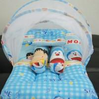 Jual Kasur Bayi/Matras Bayi/Bantal Peyang/Kelambu Lipat Doraemon Murah