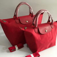 LONGCHAMP LE PLIAGE NEO WITH LONG STRAP (MEDIUM - RED)