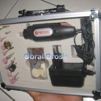 Mini Drill Bor Mini Bor Tangan Mesin Potong Gerinda Ukir Batu + Adaptr