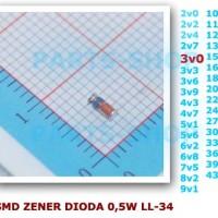 3,0v Dioda Zener 0,5w Diode 3v0 3.0v 3V 3 v 1/2W 1/2 0.5 0,5 w SMD