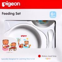 Jual Perlengkapan Makan Bayi BPA FREE Pigeon Feeding Set Mini/ Piring Mpasi Murah