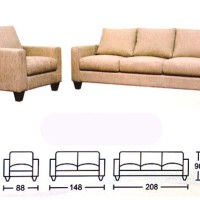 Sofa Morres Nevada 3 Seater dan 1 Seater