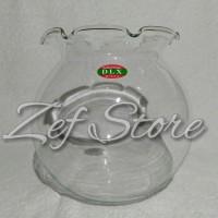 Aquarium Toples Untuk Ikan Hias - DLX Glass Shella Fish Bowl/ Pot - 4L