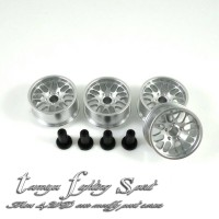Rep Tamiya HG Aluminum Wheel 8 Spokes / Velg ALU 8 Medium -SV (VA8M05)
