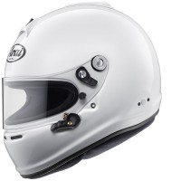 Helm Car Racing Arai Car Helmet GP6s White Solid Not AGV NOLAN, SHOEI