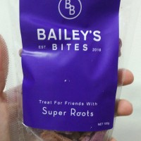 Baileys Bites Super Roots 100g | Snack anjing | dog treat |