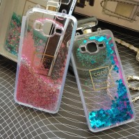 Samsung Grand Prime G530 Coco Chanel Water Glitter Bottle Parfume Case
