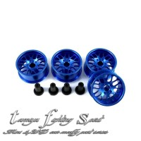 Rep Tamiya HG Aluminum Wheel 8 Spokes / Velg ALU 8 Medium -BL (VA8M07)