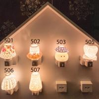 Mini lamp/lampu tidur SHIGEN Keramik Premium/ Souvenir Kado (Paket D1)