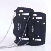 iPhone 5 5s 3D Bag Moschino + tali Rantai Soft Silicon case