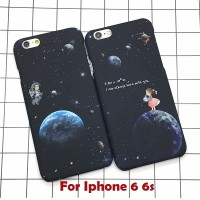 Iphone 5 5s Iphone5 s Hard case Casing Couple Astronaut Stars Space