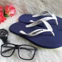 sandal sendal jepit cowo mimoys keren pantai navy biru dongker