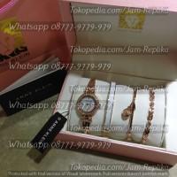 Jam Tangan Anne Klein Interchangeable White Box Sets