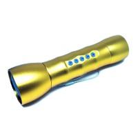 Multifunction LED Flashlight MP3 Player TF Card Slot Silicone JK-408