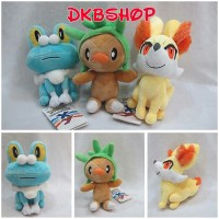 Pokemon Boneka Gen 6 Fennekin Chespin Froakie Pokeball Figure New
