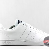 Adidas NEO ADVANTAGE CLEAN White Black Stripe Original Berkualitas