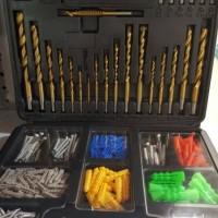 Krisbow Drill Bits / Perlengkapan Mata Bor Merk Krisbow 301 Pcs